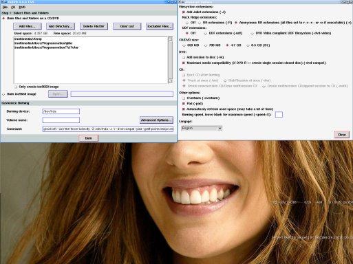 TkDVD - GUI for dvd+rw-tools written in TCL/Tk